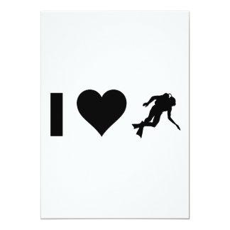 私はスキューバダイビングを愛します カード