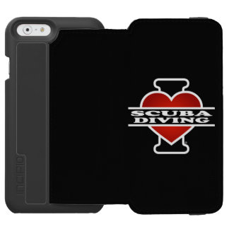 私はスキューバダイビングを愛します INCIPIO WATSON™ iPhone 6 財布ケース