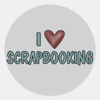 私はスクラップブック作りを愛します ラウンドシール
