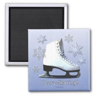 私はスケートで滑ることを愛します マグネット