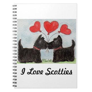 私はスコッチテリアのノートのスコッチテリア犬の誕生日を愛します ノートブック