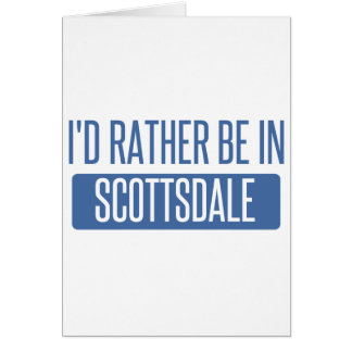 私はスコッツデールにむしろいます カード