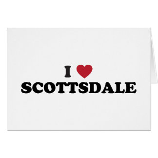 私はスコッツデールアリゾナを愛します カード