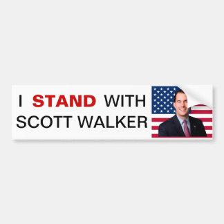 私はスコットの歩行者のバンパーステッカーと立ちます バンパーステッカー