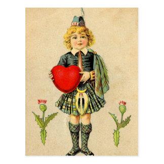 私はスコットランドのヴィンテージのスコットランド人の高地居住者を愛します ポストカード
