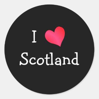 私はスコットランドを愛します ラウンドシール