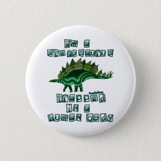 私はステゴサウルスです 5.7CM 丸型バッジ
