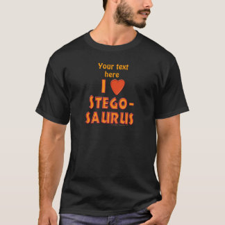 私はステゴサウルスの恐竜の恋人を愛します Tシャツ