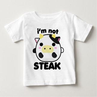 私はステーキではないです ベビーTシャツ
