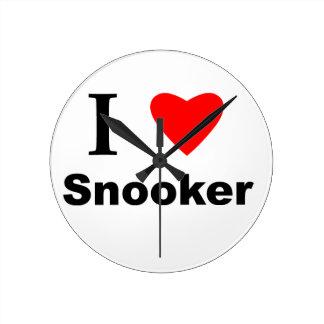 私はスヌーカーを愛します ラウンド壁時計