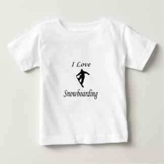 私はスノーボードを愛します ベビーTシャツ