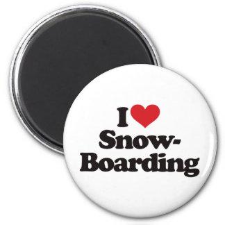 私はスノーボードを愛します マグネット
