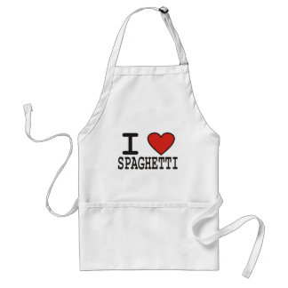 私はスパゲッティを愛します スタンダードエプロン