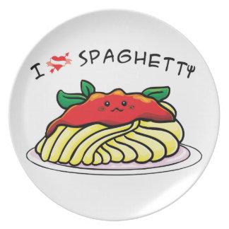 私はスパゲッティを愛します プレート