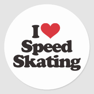 私はスピードスケートを愛します ラウンドシール