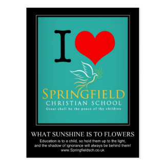 私はスプリングフィールドのクリスチャンの学校を愛します ポストカード