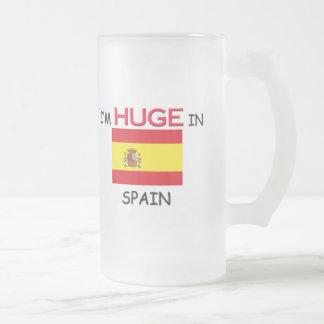 私はスペインで巨大です フロストグラスビールジョッキ