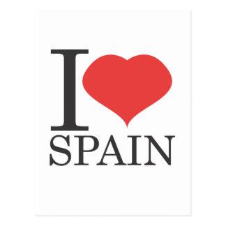 私はスペインを愛します ポストカード