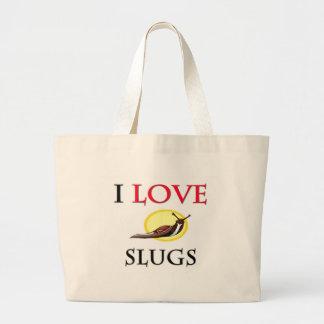 私はスラグを愛します ラージトートバッグ
