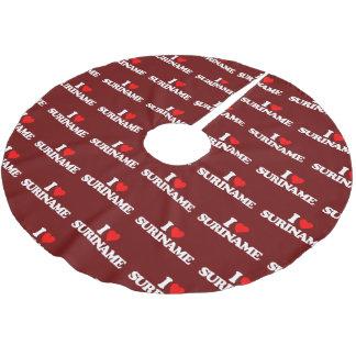 私はスリナムを愛します ブラッシュドポリエステルツリースカート