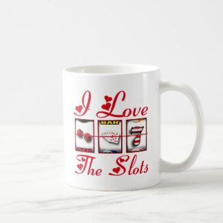 私はスロットを愛します コーヒーマグカップ