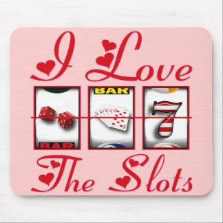私はスロットを愛します マウスパッド