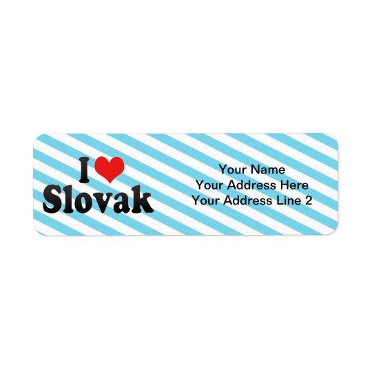 私はスロバキアを愛します ラベル