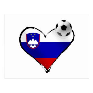 私はスロベニアのフットボール-スロベニアのサッカー愛--を愛します ポストカード