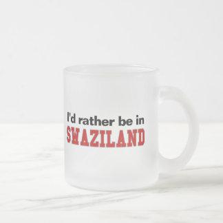 私はスワジランドにむしろいます フロストグラスマグカップ