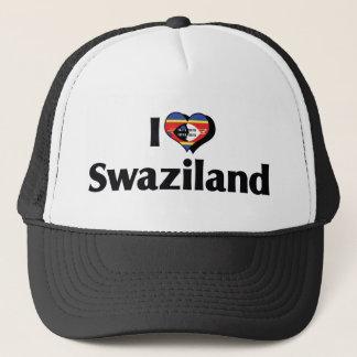 私はスワジランドの旗を愛します キャップ