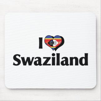 私はスワジランドの旗を愛します マウスパッド