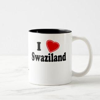私はスワジランドを愛します ツートーンマグカップ