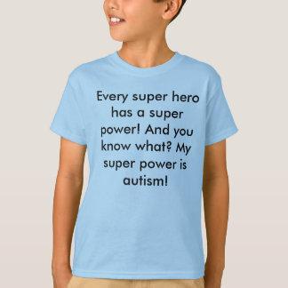 私はスーパーヒーローです Tシャツ