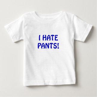 私はズボンを憎みます ベビーTシャツ