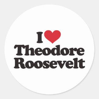 私はセオドア・ルーズベルトを愛します ラウンドシール