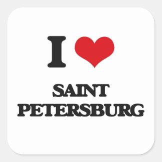 私はセント・ピーターズバーグを愛します スクエアシール