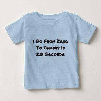 私はゼロから不機嫌に-幼児Tシャツ行きます ベビーTシャツ