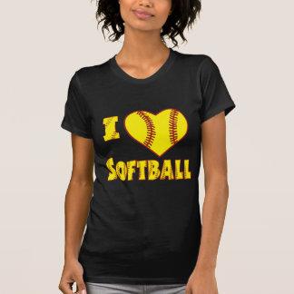 私はソフトボール2を愛します Tシャツ