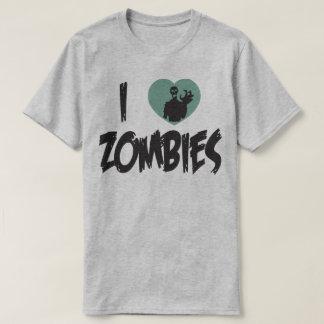 私はゾンビのハートのゾンビのおもしろいなユーモアのTシャツを愛します Tシャツ