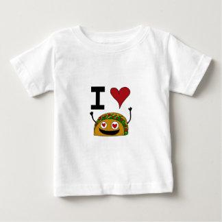 私はタコスのベビーのワイシャツを愛します ベビーTシャツ