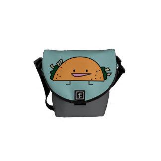 私はタコスのメッセンジャーバッグを愛します メッセンジャーバッグ
