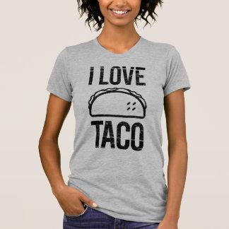 私はタコスを愛します Tシャツ