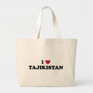 私はタジキスタンを愛します ラージトートバッグ
