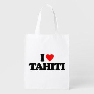 私はタヒチを愛します エコバッグ
