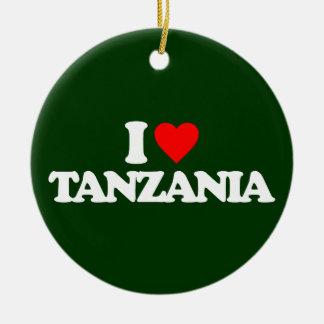 私はタンザニアを愛します セラミックオーナメント