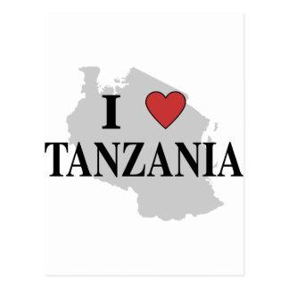 私はタンザニアを愛します ポストカード