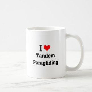 私はタンデムパラグライダーを愛します コーヒーマグカップ