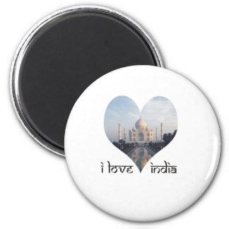 私はタージ・マハルが付いているインドを愛します マグネット