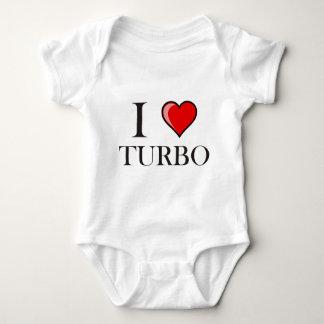 私はターボを愛します ベビーボディスーツ