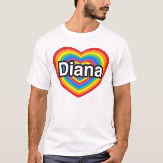 私はダイアナを愛します。 私はダイアナ愛します。 ハート Tシャツ
